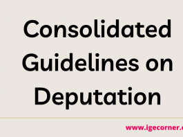 consolidated guidelines on deputation