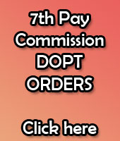 7th Pay Commission DOPT Orders