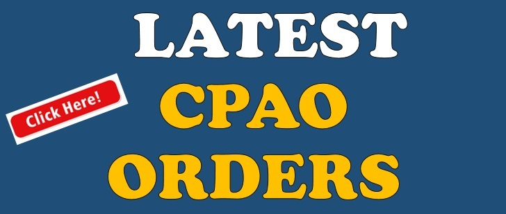 CPAO Orders