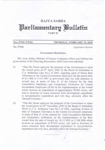 Parliamentary Bulletin