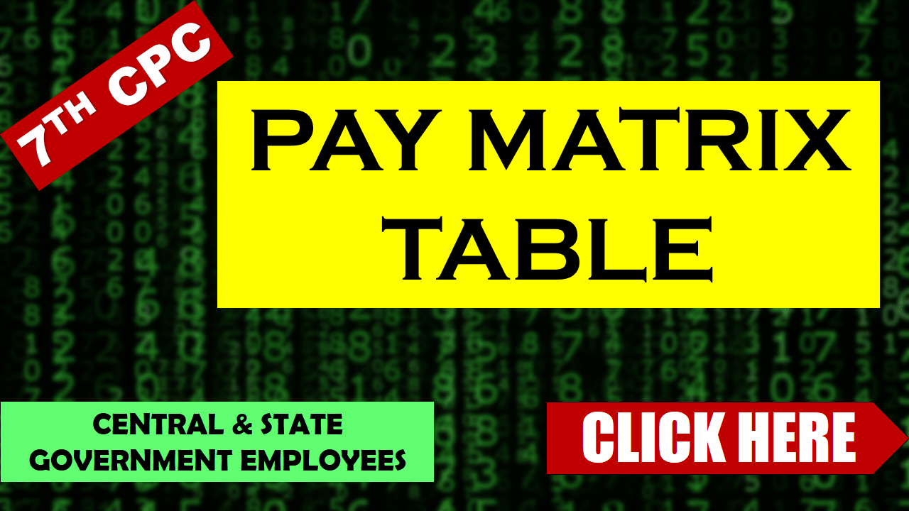 Pay Matrix Table