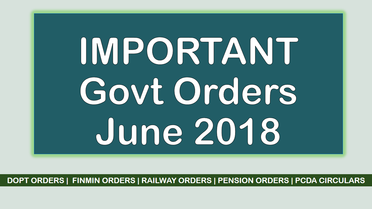 imp govt orders june