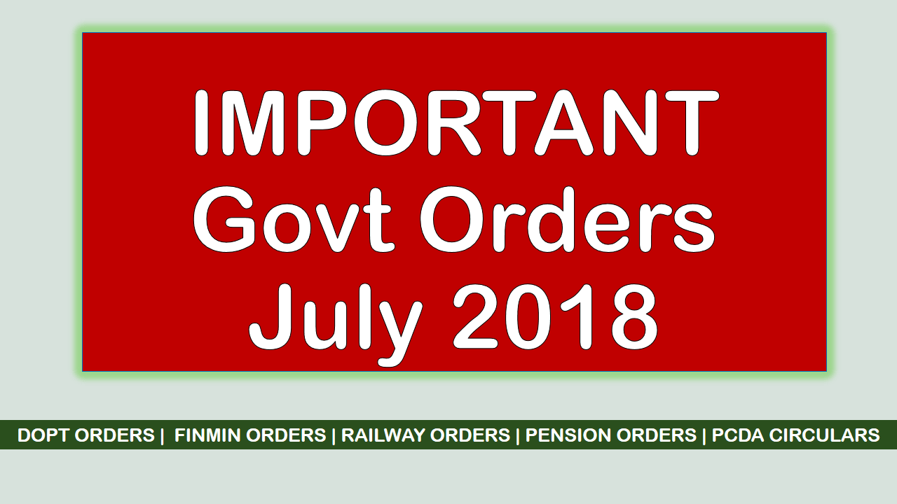 imp govt orders july