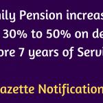 Family Pension increased from 30% to 50%