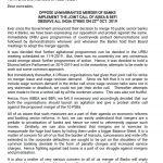 Bank Strike Letter
