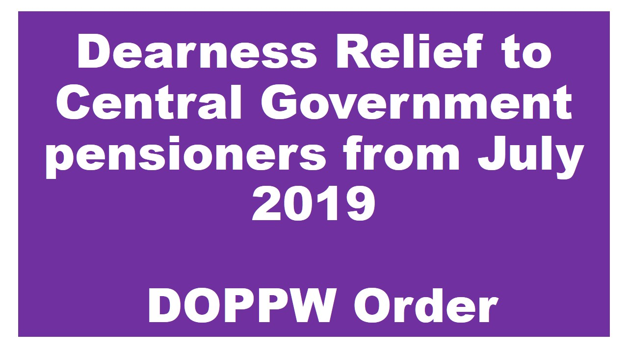 Dearness Relief to Central Government pensioners