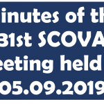 Minutes of the 31st SCOVA meeting held on