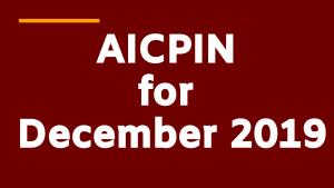 AICPIN Dec 2019