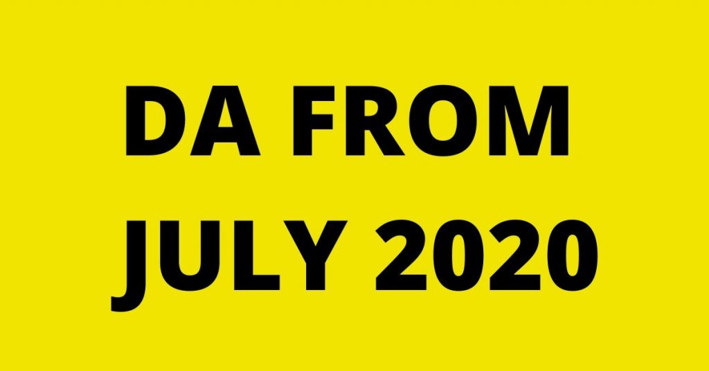 Expected DA from July 2020