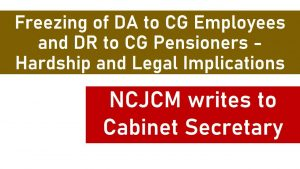 Freezing of DA to CG Employees and DR-min
