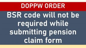 BSR Code pension claim form