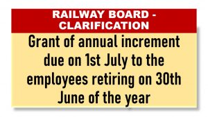 Grant of annual increment