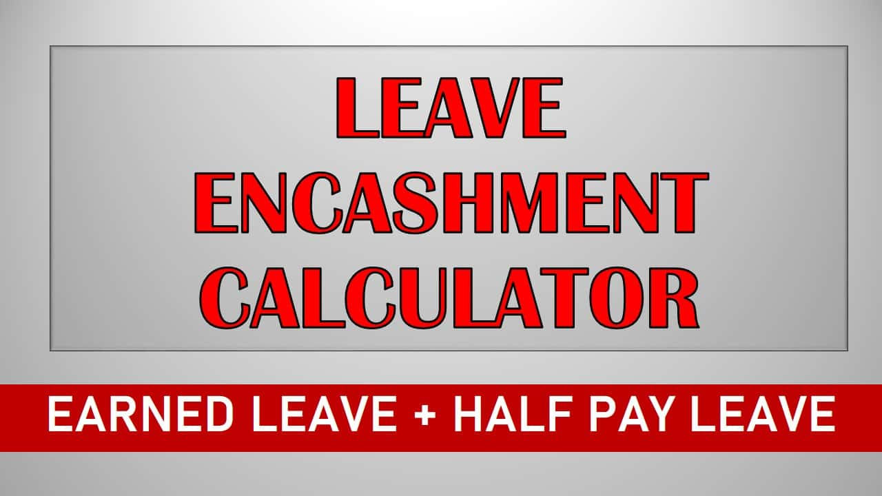 Leave Encashment Calculator