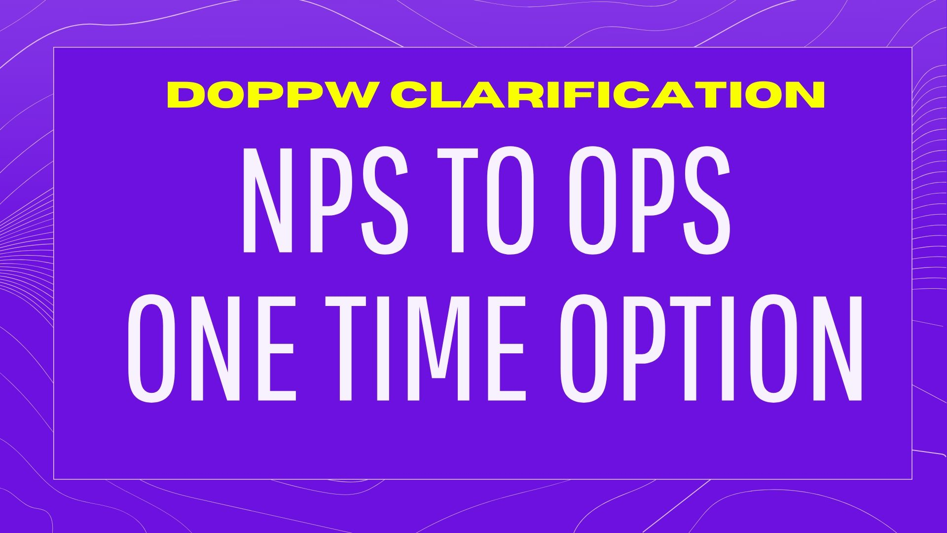 NPS to OPS
