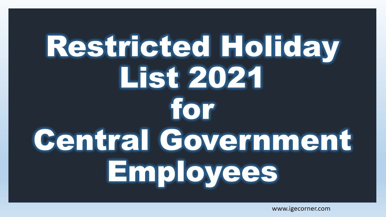 Restricted Holiday List 2021