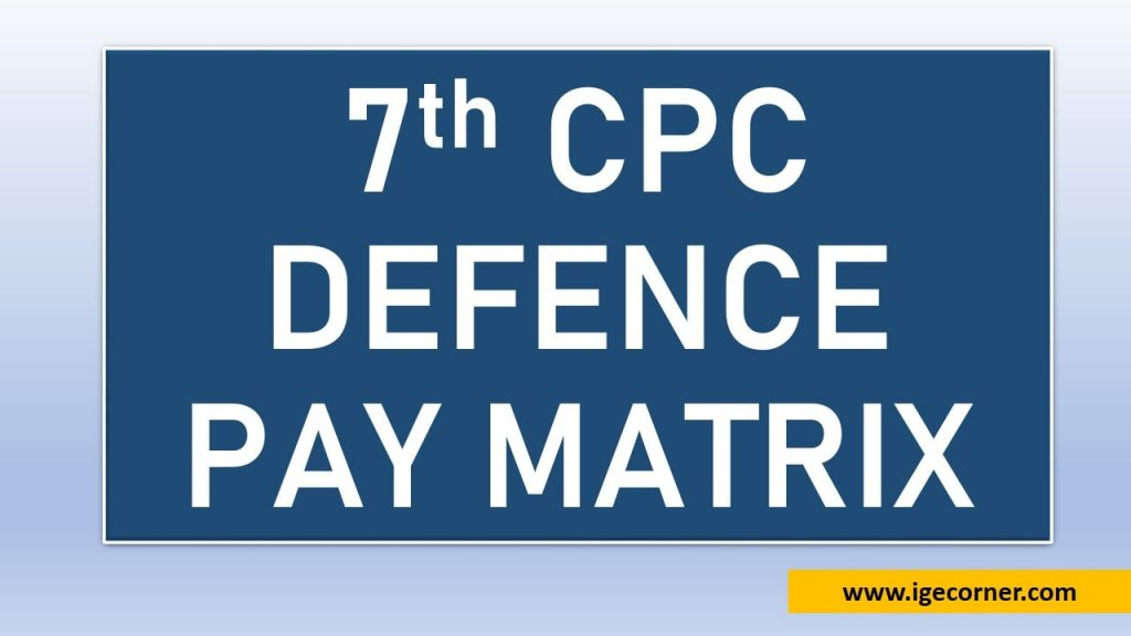 Defence Pay Matrix Level 3