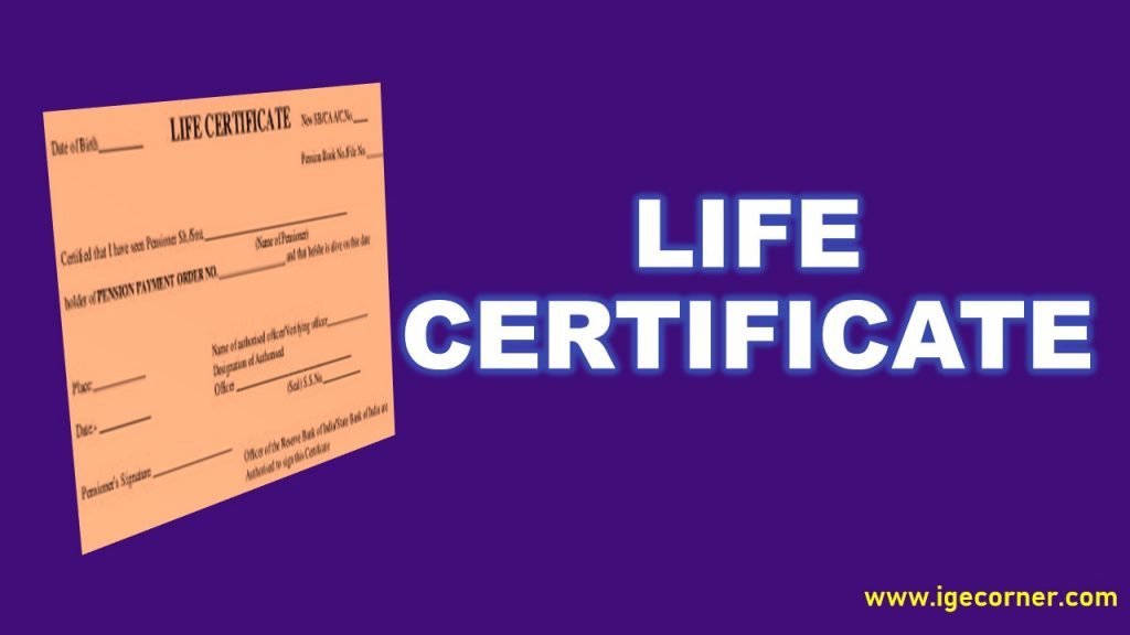 railway pensioners life certificate