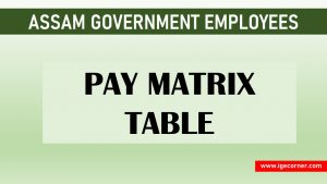 Pay Matrix Table for Assam Government Employees