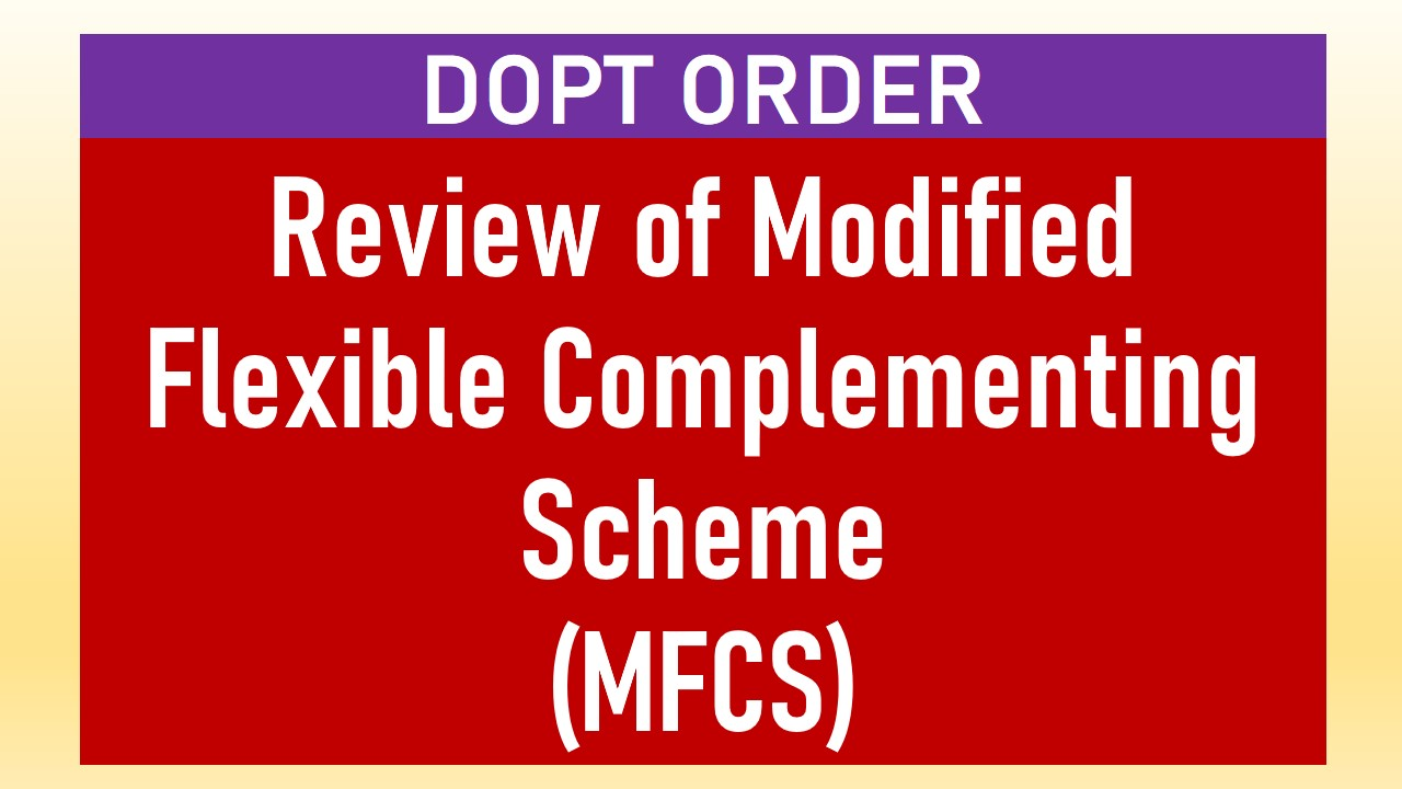 Modified Flexible Complementing Scheme