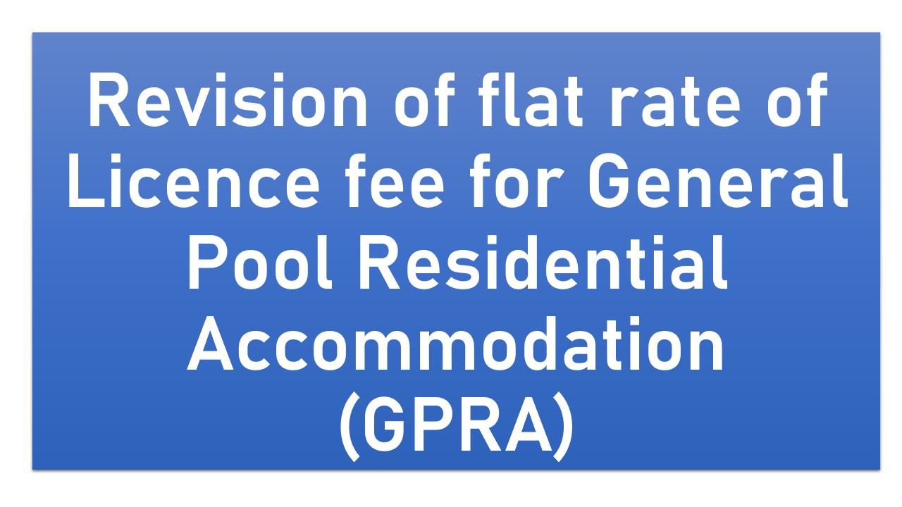 Revision of flat rate of Licence fee for