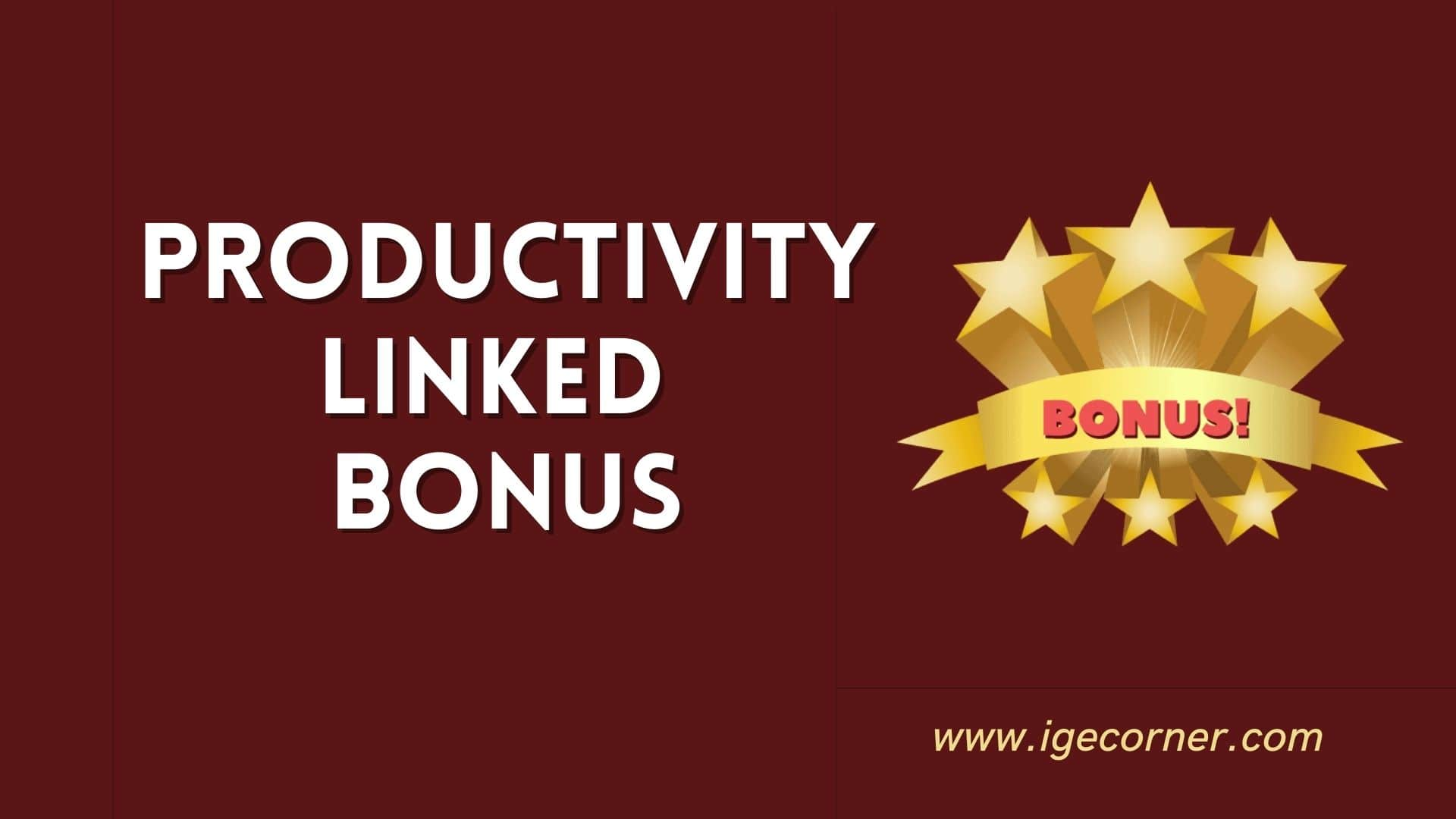Productivity Linked Bonus 2020