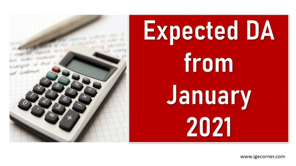 Expected DA from January 2021 Calculator