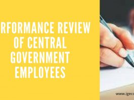 Performance review of Central Government Employees