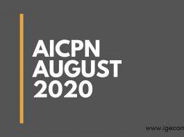 AICPIN AUGUST 2020