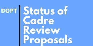 Status of Cadre Review Proposals