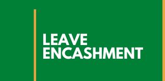 leave encashment