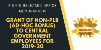 bonus for central government employees