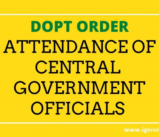 Attendance of Central Government Employees