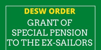 Special Pension to the Ex-Sailors