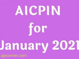 AICPIN for January 2021