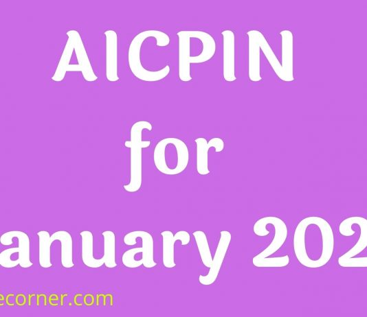 AICPIN for January 2021