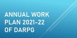 Annual Work Plan 2021-22 of DARPG