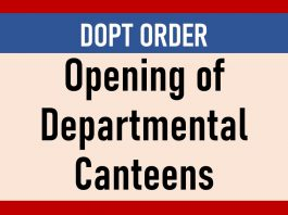 Opening of Departmental Canteens
