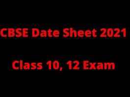 cbse date sheet 2021