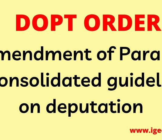 guidelines on deputation