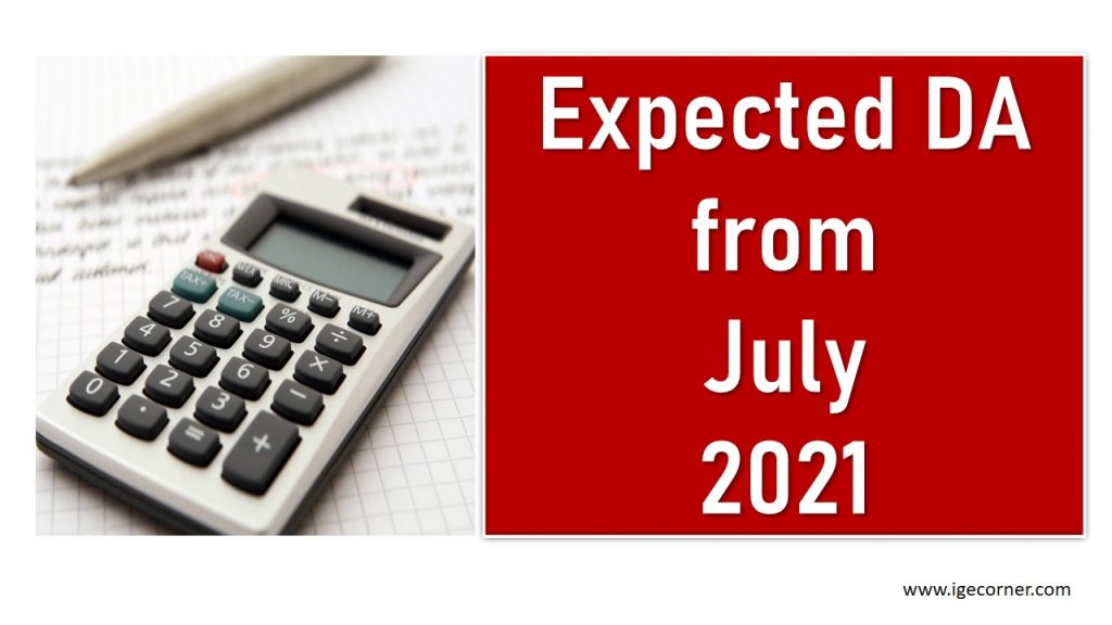 Expected DA from July 2021