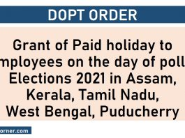 Paid holiday to employees - Elections 2021