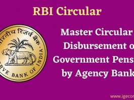Disbursement of Government Pension by Agency Banks