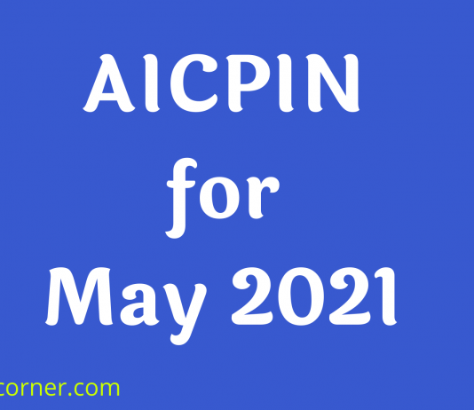 AICPIN for May 2021