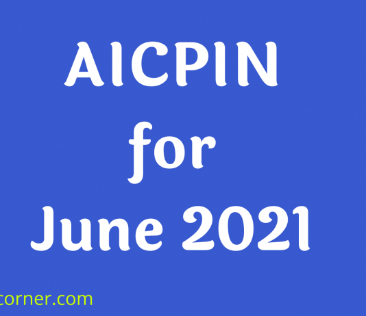 AICPIN for June 2021
