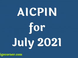 AICPIN for July 2021