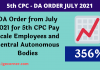 DA Order from July 2021 for 5th CPC Employees