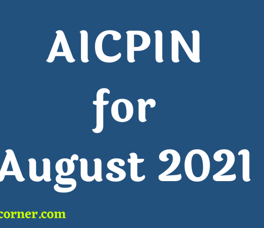 AICPIN for August 2021