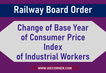 Change of Base Year of Consumer Price Index