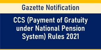 Gratuity under National Pension System