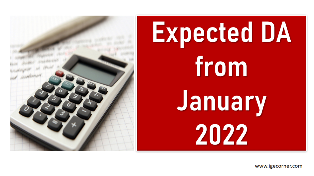 Expected DA from January 2022